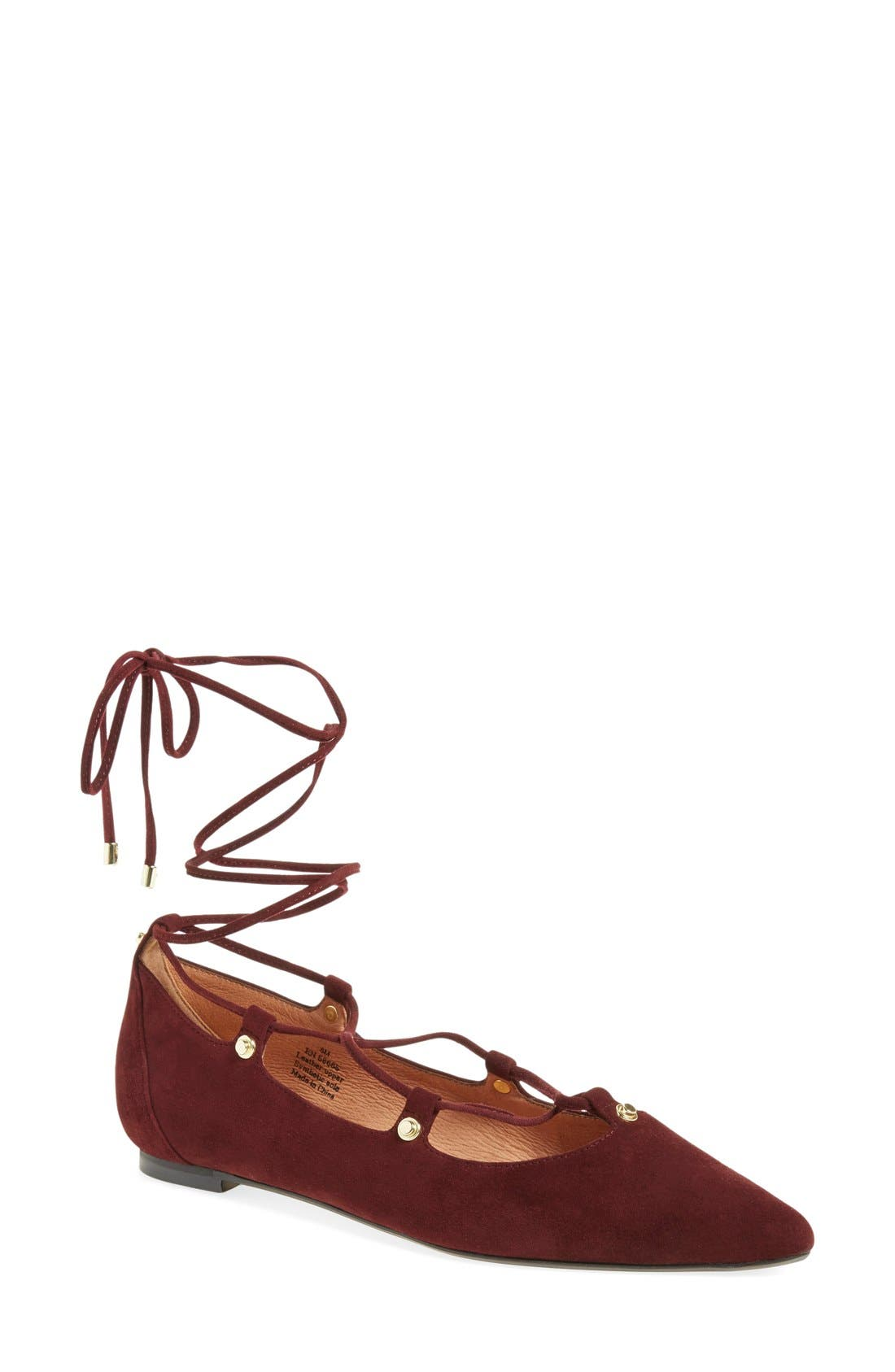 ,                             'Owen' Pointy Toe Ghillie Flat,                             Main thumbnail 49, color,                             930