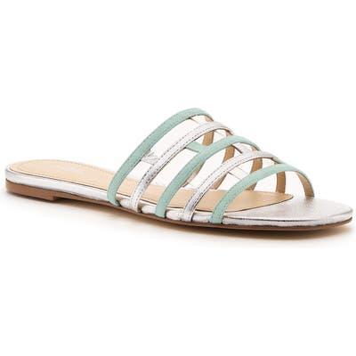 Botkier Strappy Slide Sandal, Metallic