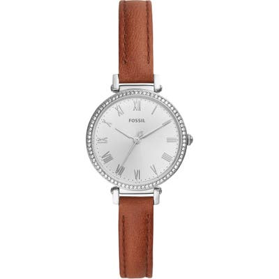 Fossil Kinsey Leather Strap Watch, 2m