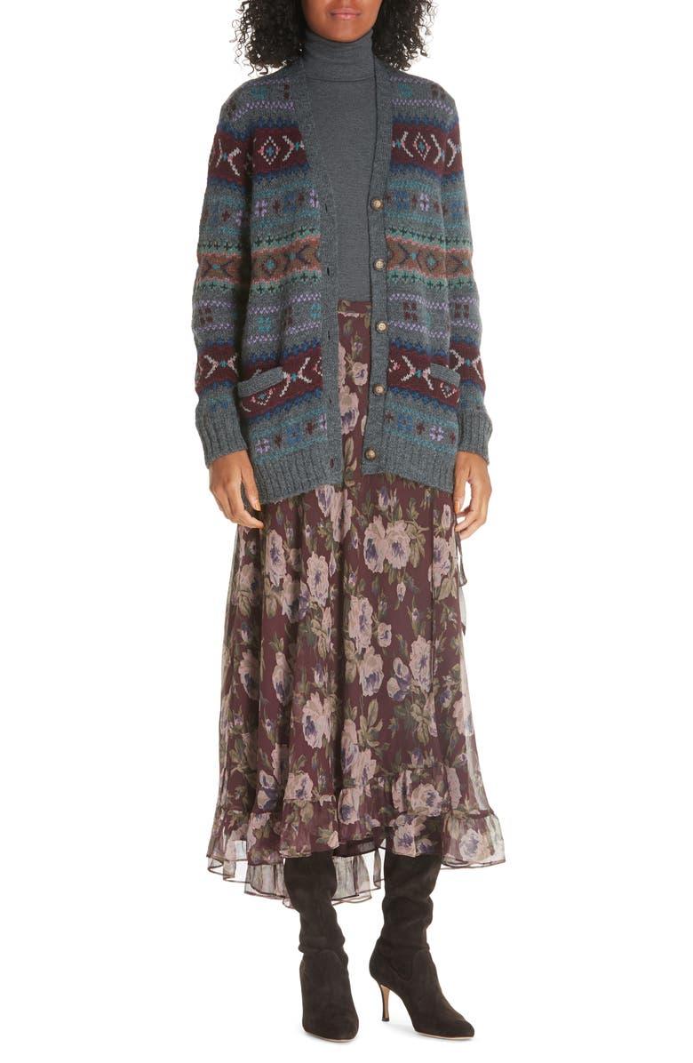 1fb3a9fcde90 Polo Ralph Lauren Alina Midi Silk Wrap Skirt | Nordstrom