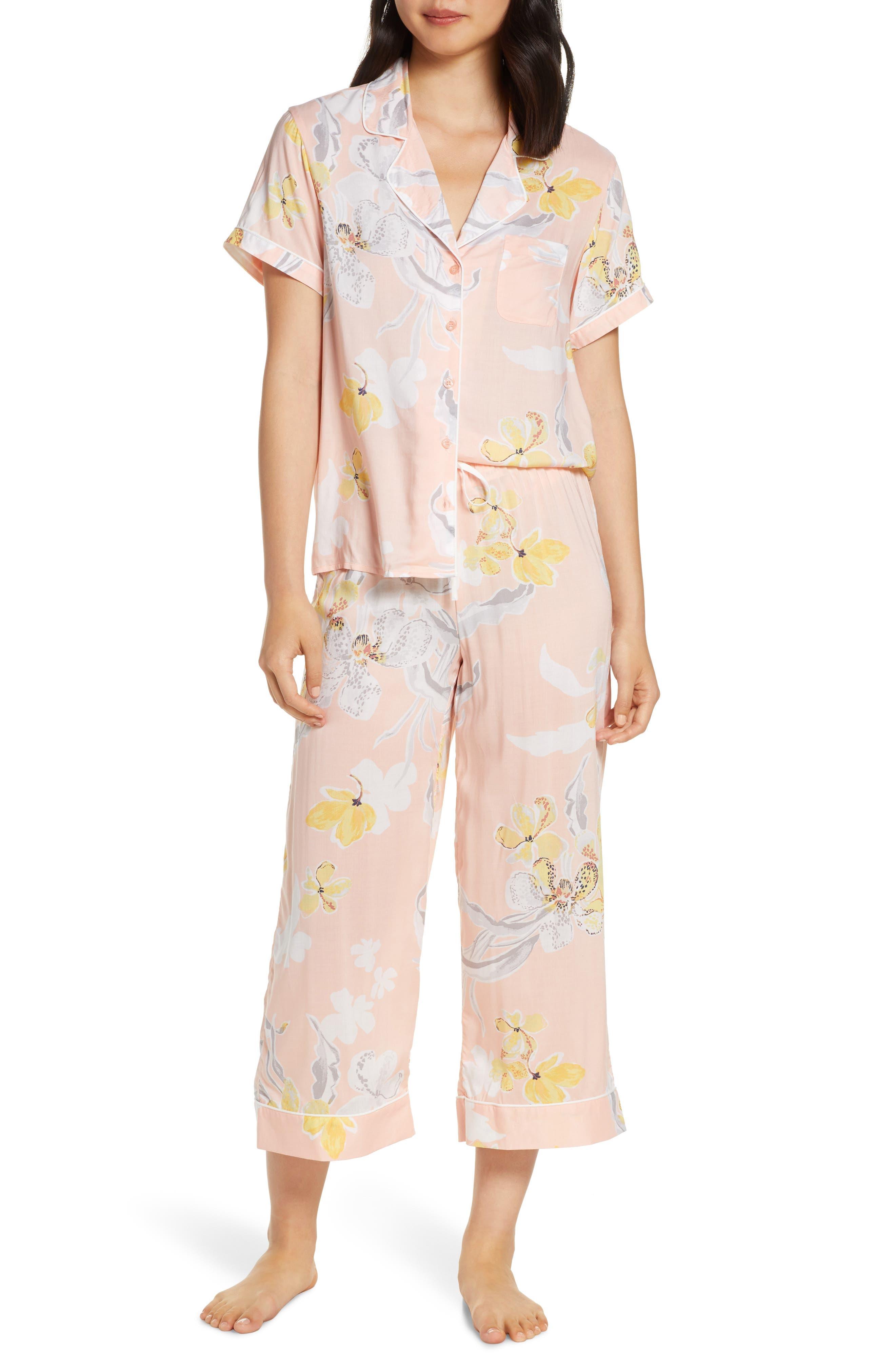Nordstrom Lingerie Sweet Dreams Crop Pajamas, Pink