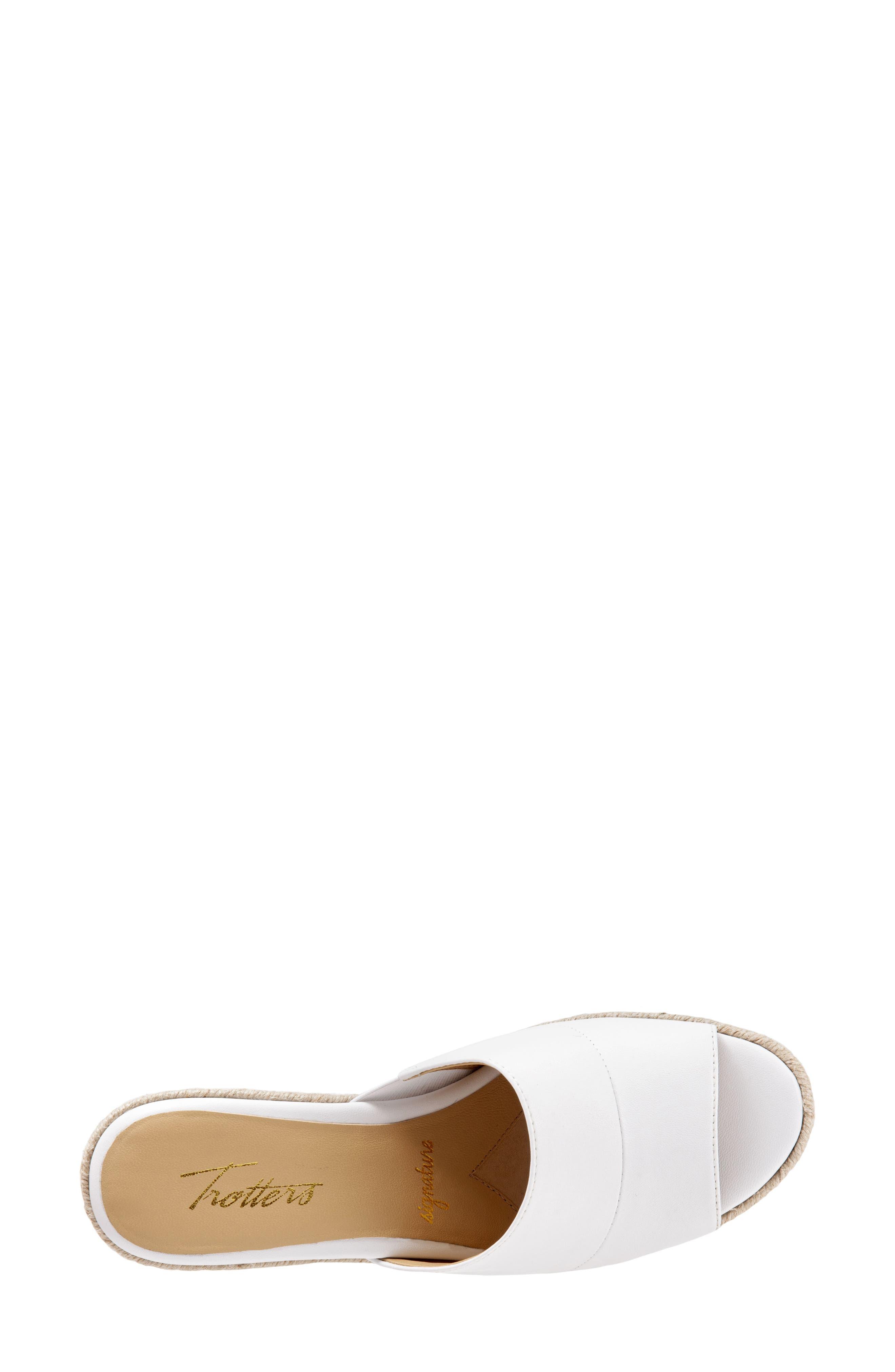,                             Colony Wedge Slide Sandal,                             Alternate thumbnail 5, color,                             WHITE LEATHER