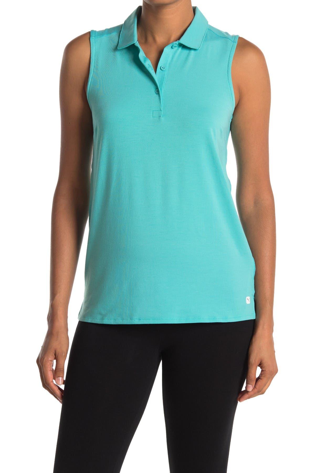 Image of PUMA Flow Sleeveless Polo Shirt