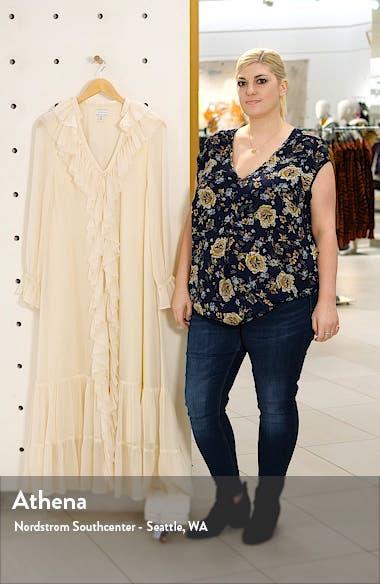 Frill Chiffon Long Sleeve Maxi Dress, sales video thumbnail