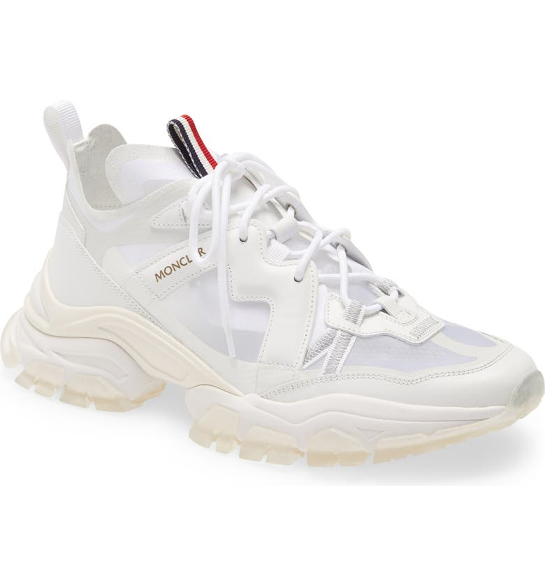 MONCLER Leave No Trace Sneaker, Main, color, WHITE