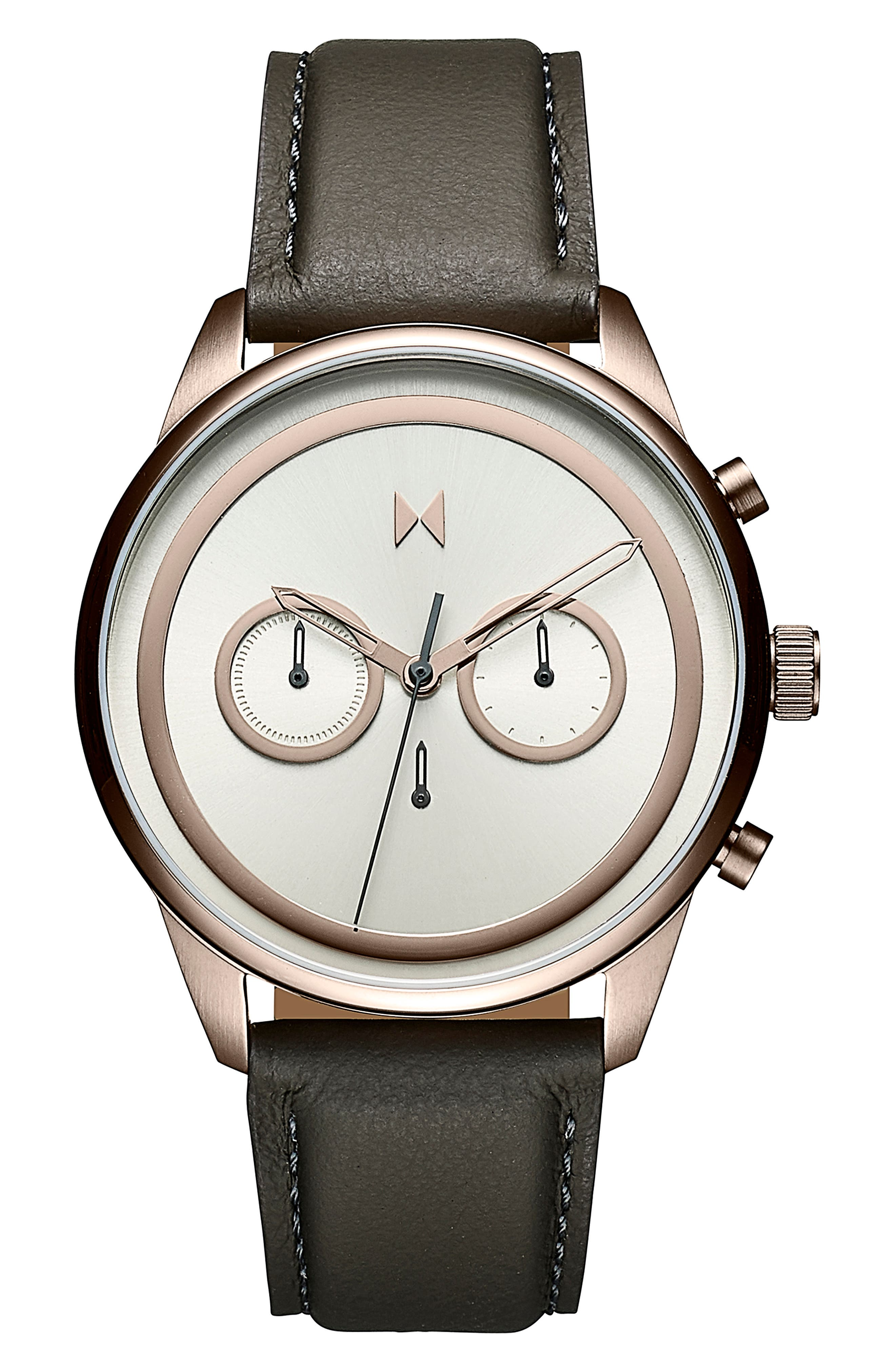 Powerlane Chronograph Leather Strap Watch