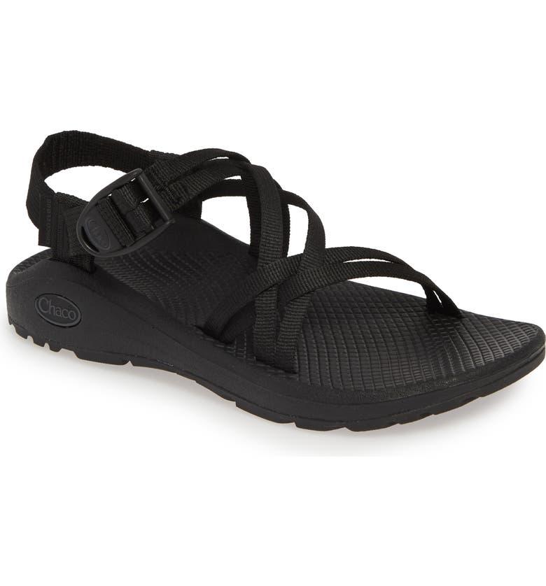 CHACO Z/Cloud X Sport Sandal, Main, color, SOLID BLACK FABRIC