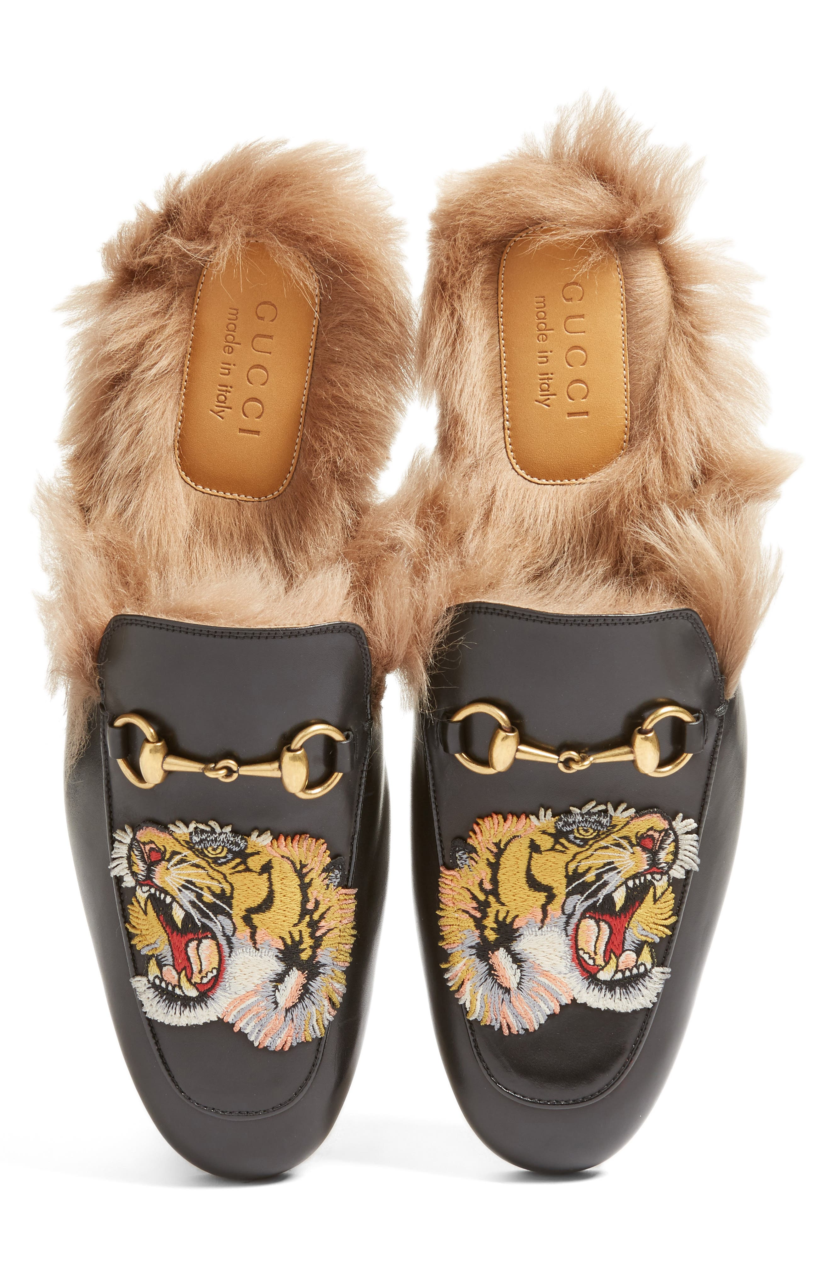 ,                             Princetown Genuine Shearling Lined Mule Loafer,                             Main thumbnail 18, color,                             008