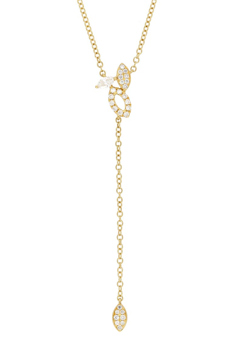 BONY LEVY Audrey Open Marquise Diamond Y-Necklace, Main, color, YELLOW GOLD/DIAMOND