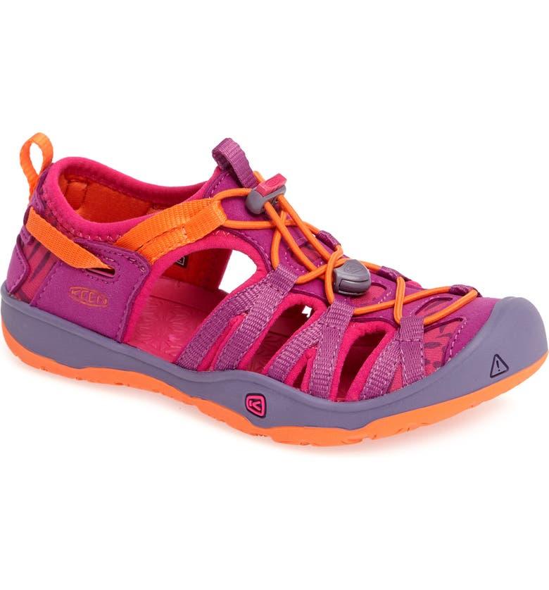 KEEN Moxie Water Friendly Sandal, Main, color, PURPLE WINE/ NASTURTIUM