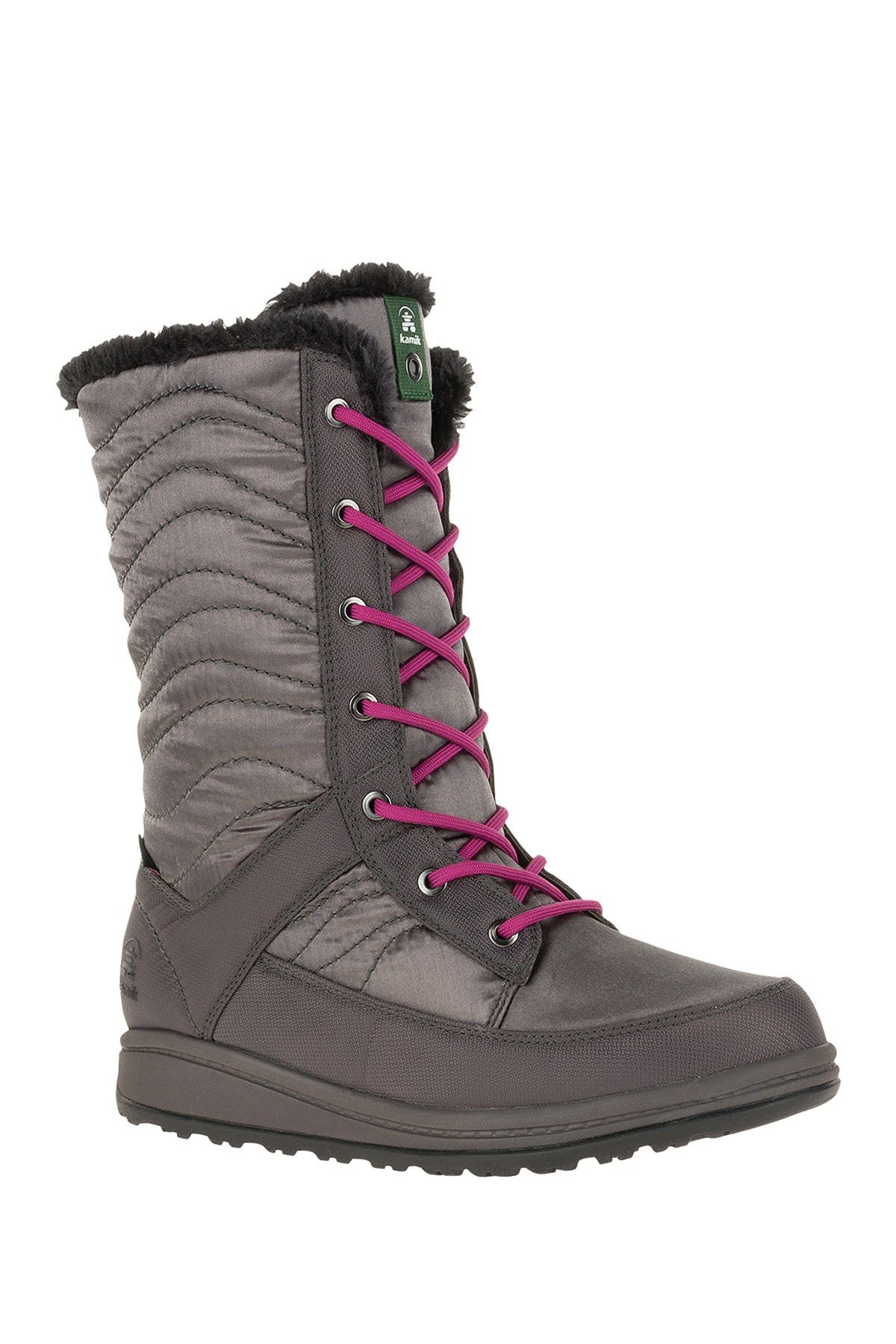 Image of Kamik Bailee Waterproof Faux Shearling Lined Snow Boot
