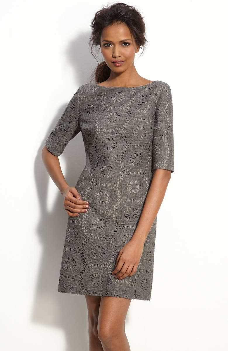 ADRIANNA PAPELL Lace Shift Dress, Main, color, 020