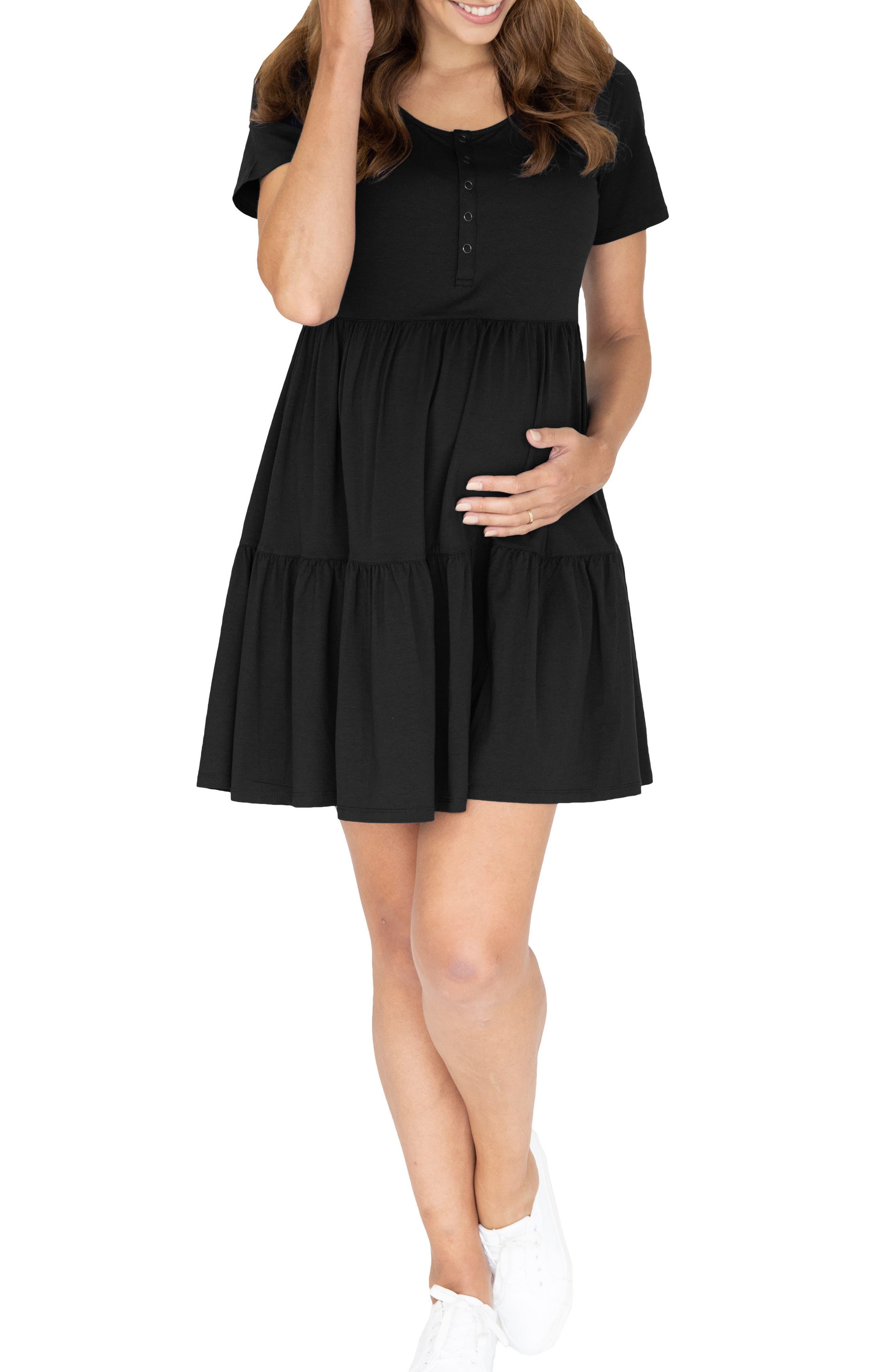 Tiered Maternity/nursing Dress