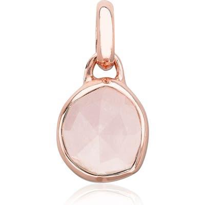 Monica Vinader Siren Mini Semiprecious Stone Bezel Pendant Charm
