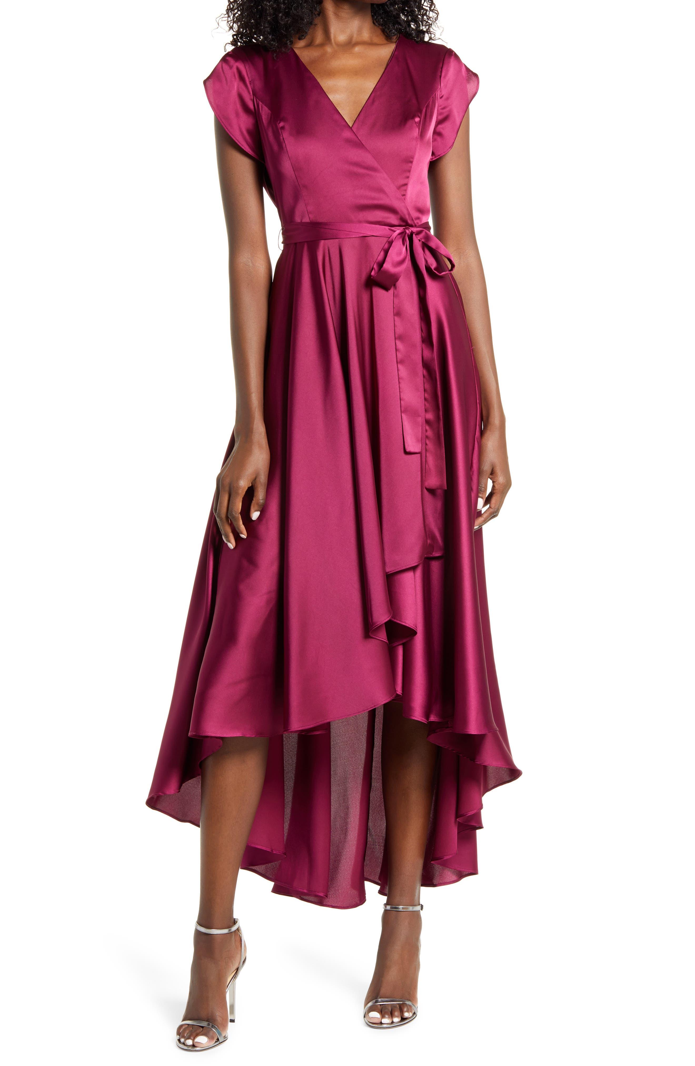 70s Dresses – Disco Dress, Hippie Dress, Wrap Dress Womens Lulus Fallen For You Satin Highlow Dress Size X-Large - Purple $36.00 AT vintagedancer.com