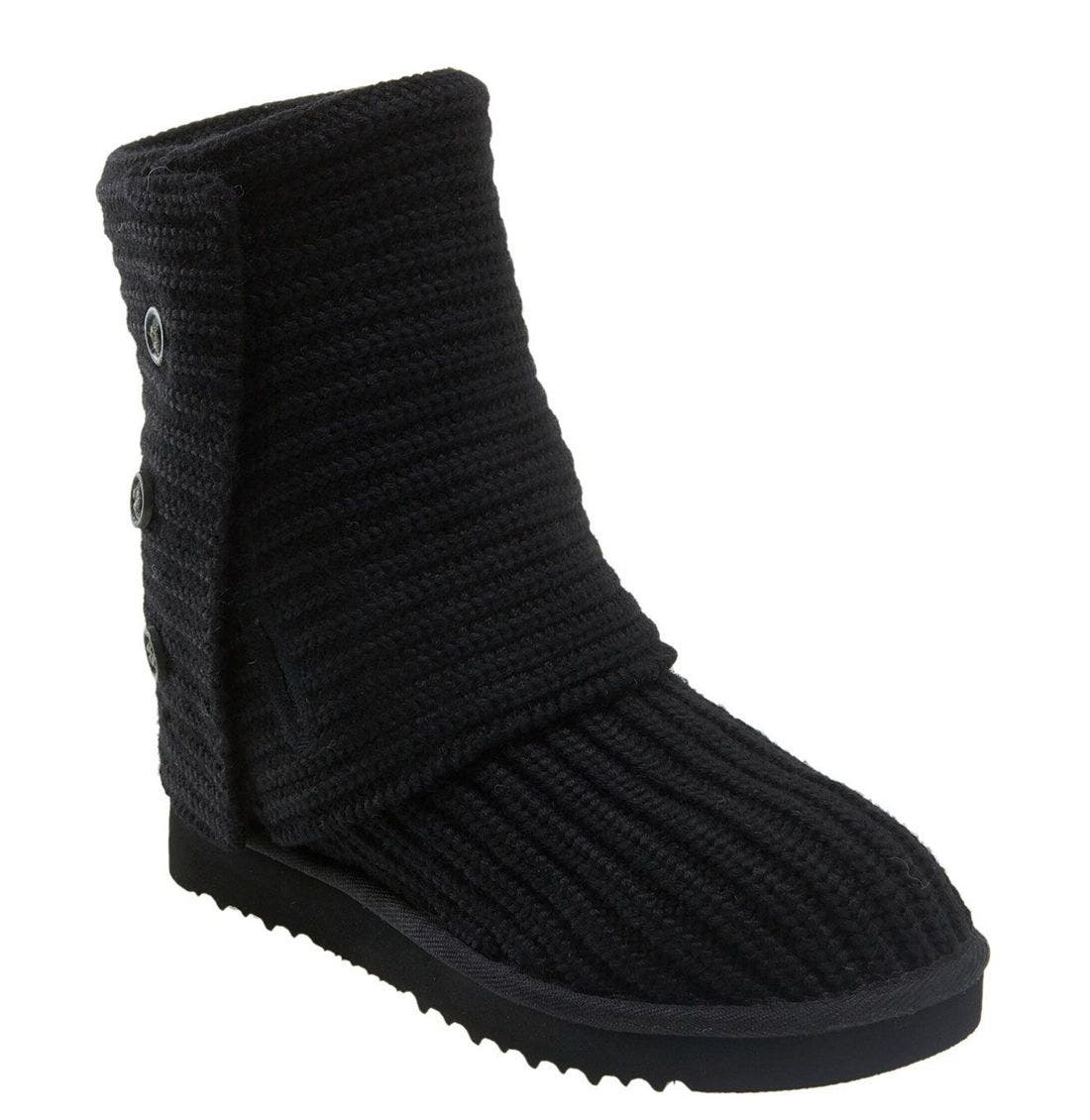,                             'Cardy' Classic Knit Boot,                             Main thumbnail 68, color,                             BLK