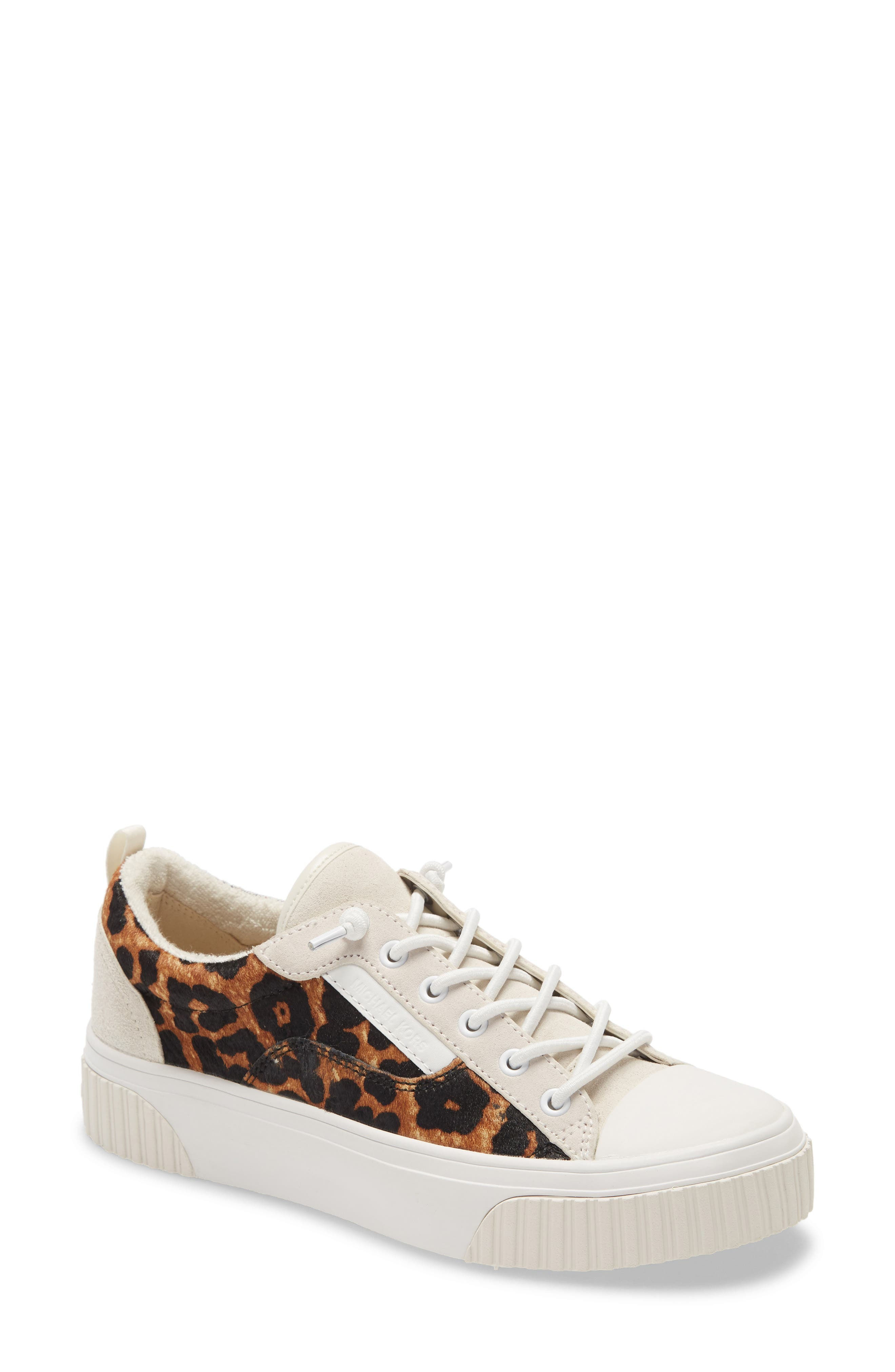 Image of MICHAEL Michael Kors Oscar Genuine Calf Hair Leopard Sneaker