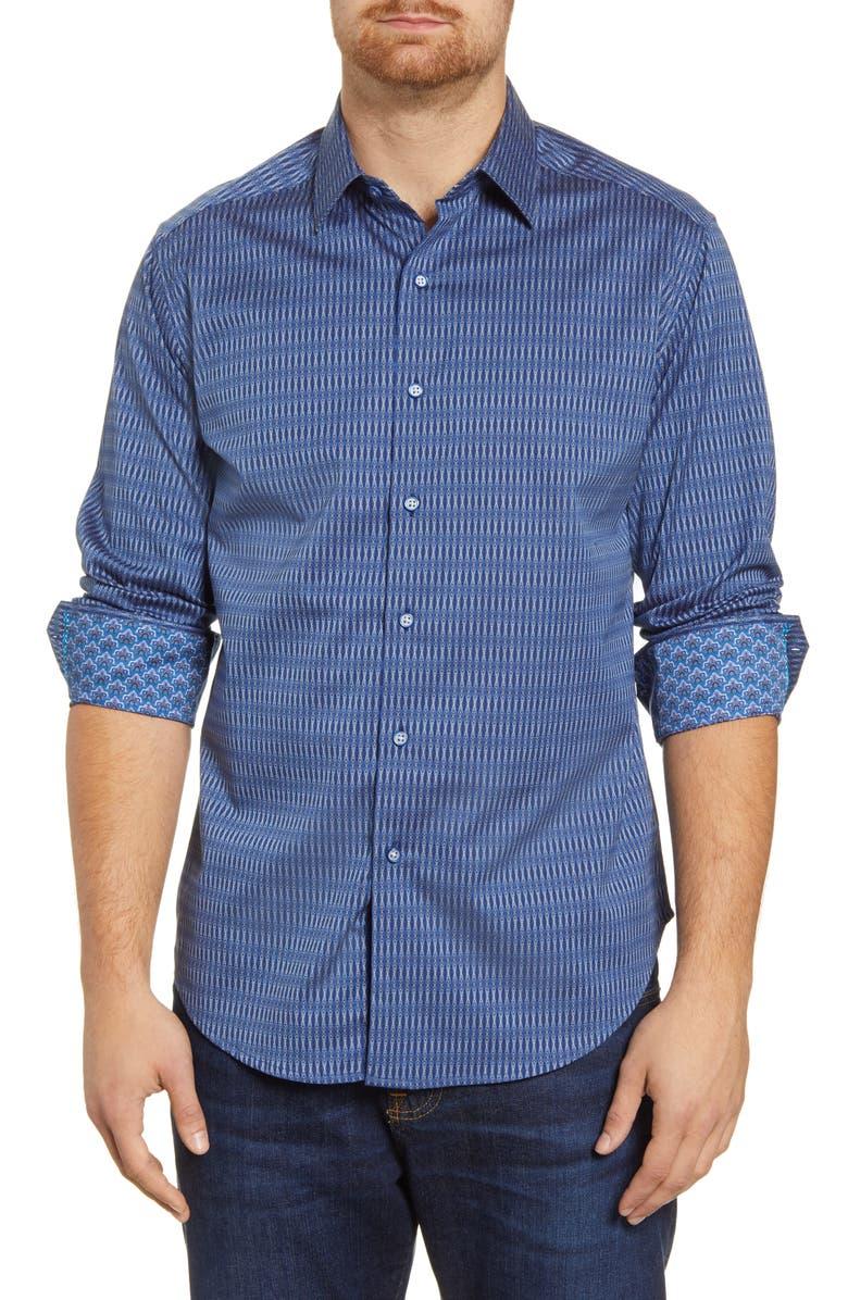 ROBERT GRAHAM Pico Classic Fit Button-Up Shirt, Main, color, NAVY