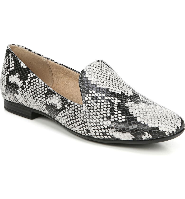 NATURALIZER Emiline Loafer, Main, color, ALABASTER SNAKE PRINT LEATHER