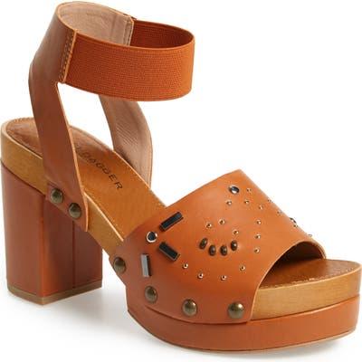 Kelsi Dagger Brooklyn Frida Studded Platform Sandal- Brown