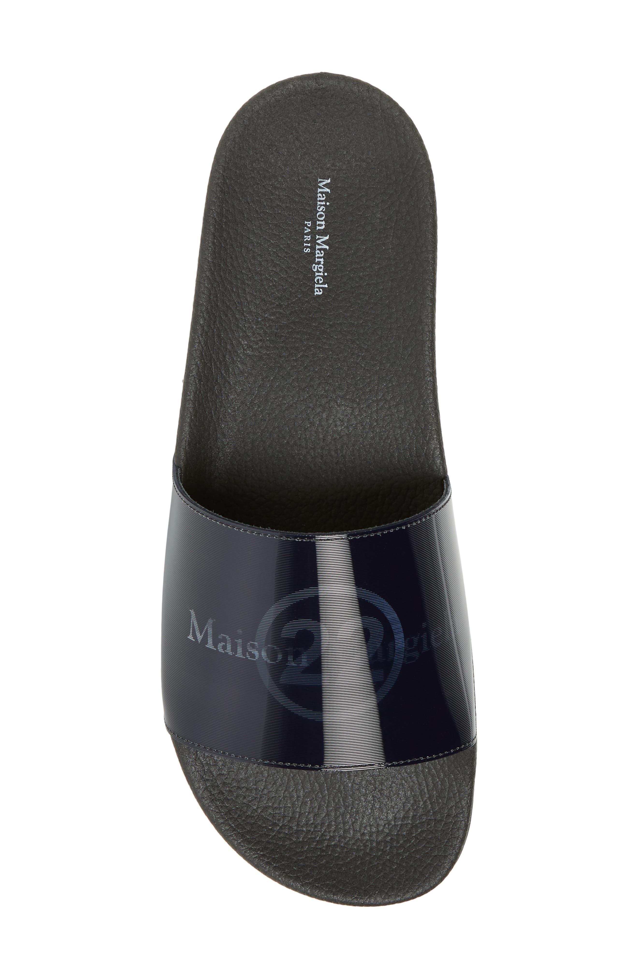,                             Pool Slide Sandal,                             Alternate thumbnail 5, color,                             BLACK/ OFF WHITE
