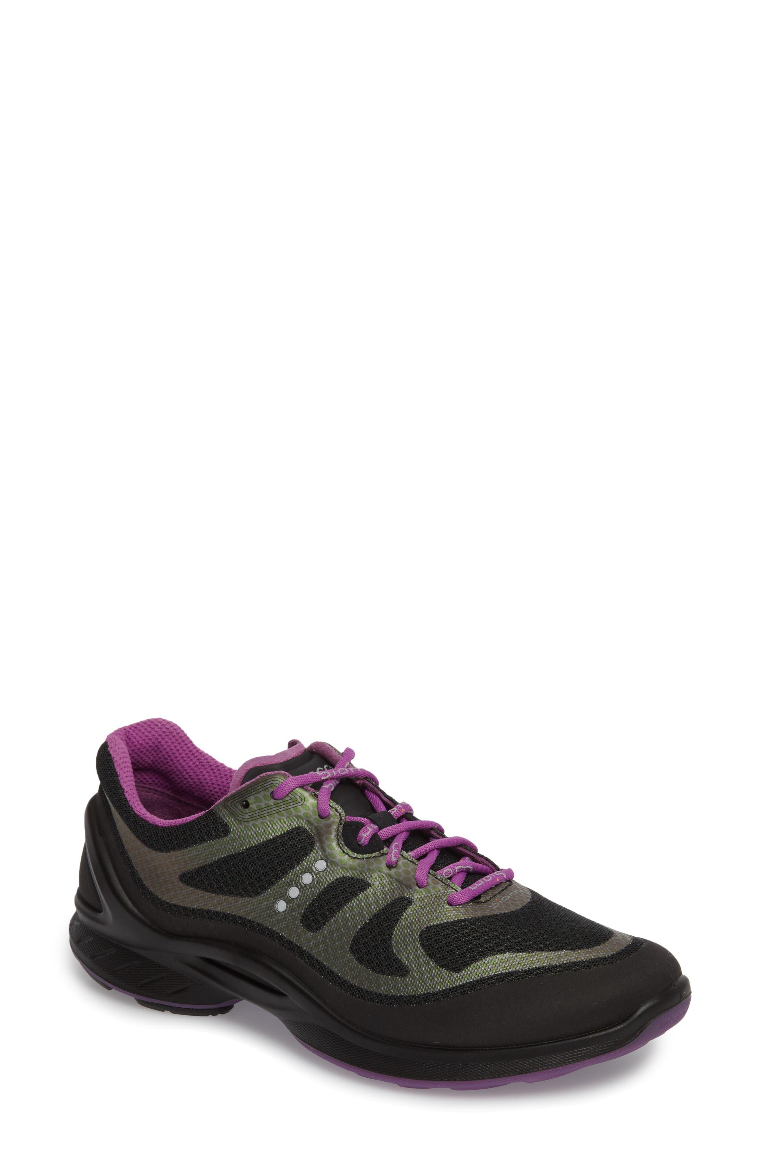 Ecco Biom Fjuel Tie Sneaker, Black