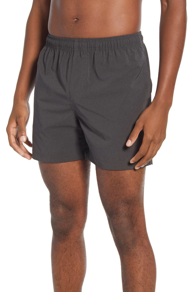 CHUBBIES The Flints Solid Swim Trunks, Main, color, BLACK
