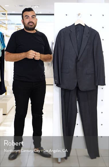 Trim Fit Solid Wool Suit, sales video thumbnail