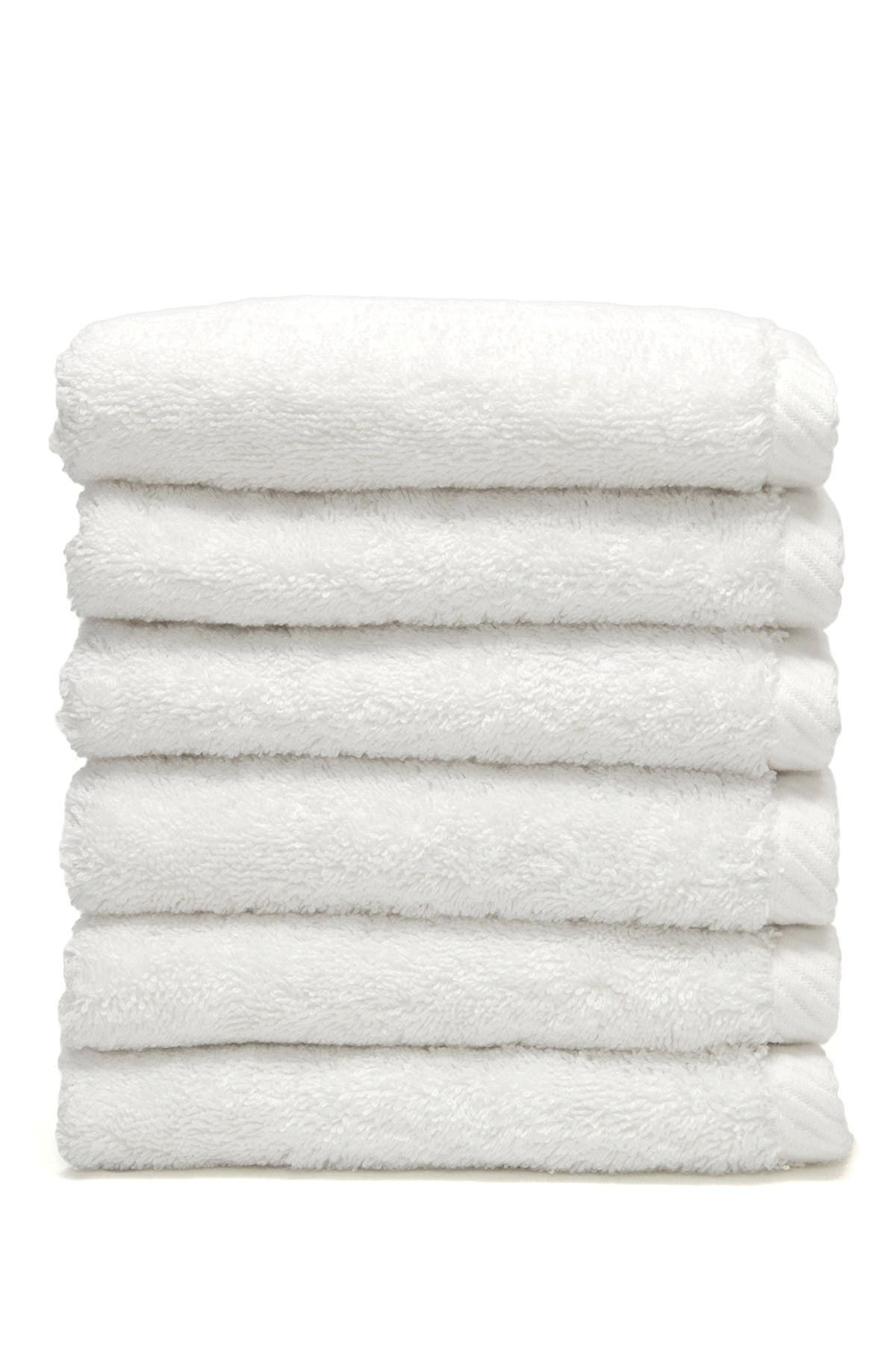 Image of LINUM HOME White Soft Twist Washcloths - Set of 6