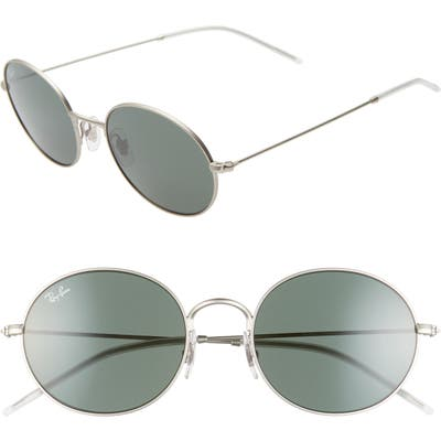 Ray-Ban 5m Oval Sunglasses - Rubber Silver/ Green Solid