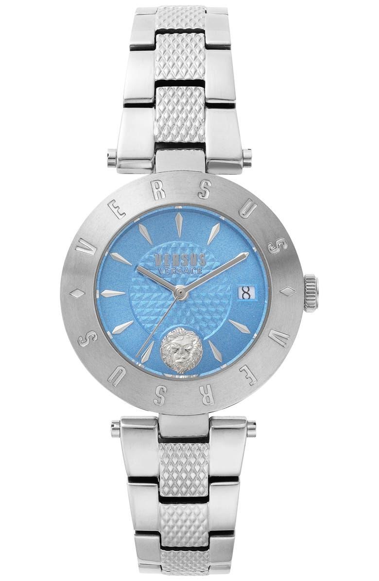 VERSUS VERSACE VERSUS by Versace Logo Bracelet Watch, 34mm, Main, color, 040
