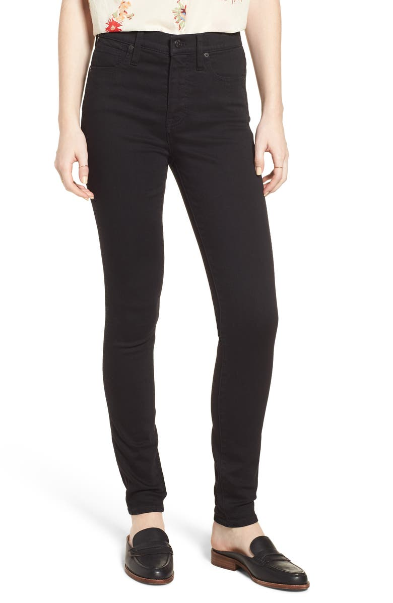 MADEWELL 10-Inch High Waist Skinny Jeans, Main, color, 001