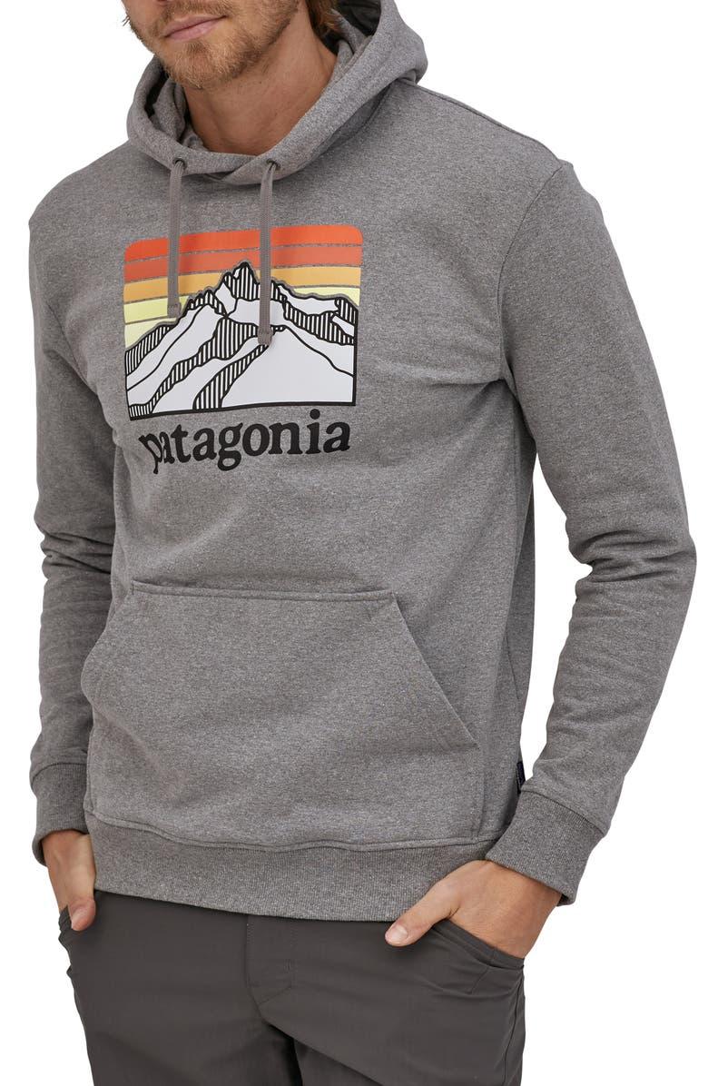 PATAGONIA Line Ridge Logo Graphic Hoodie, Main, color, 020