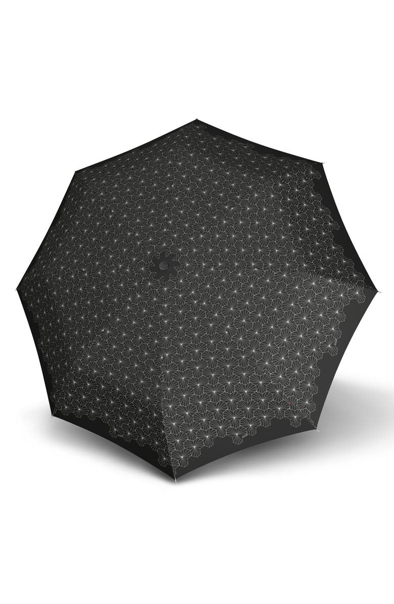 KNIRPS X200 90th Anniversary Duomatic Umbrella, Main, color, LOTUS BLACK