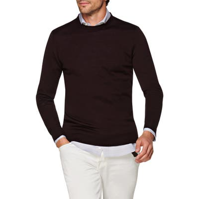 Suitsupply Merino Wool Crewneck Sweater, Red