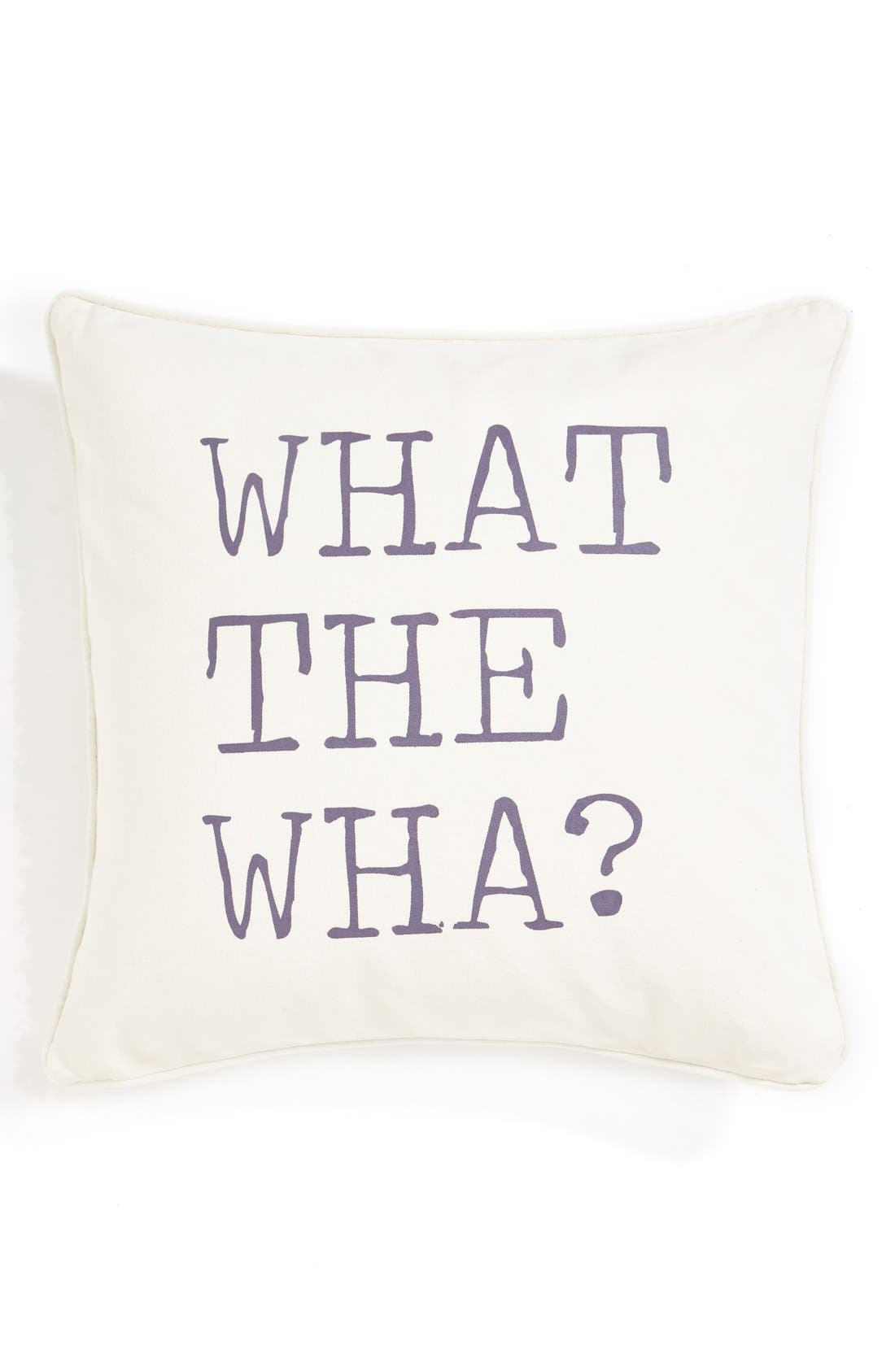 ,                             'What the Wha?' Pillow,                             Main thumbnail 1, color,                             900