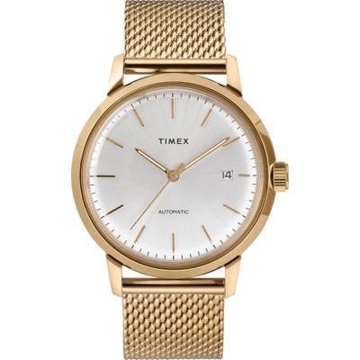 Timex Marlin Mesh Strap Automatic Watch, 40mm