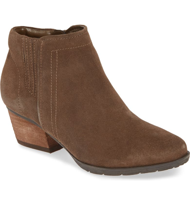BLONDO Valli 2.0 Waterproof Bootie, Main, color, DARK TAUPE SUEDE