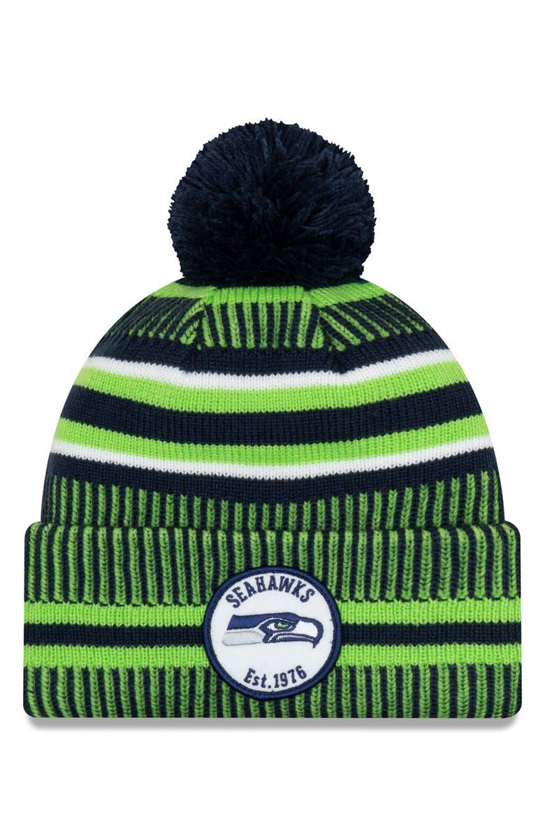 NEW ERA CAP NFL Beanie, Main, color, SEATTLE SEAHAWKS