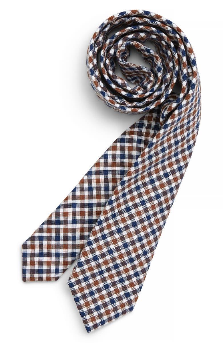 NORDSTROM Plaid Cotton Tie, Main, color, 260