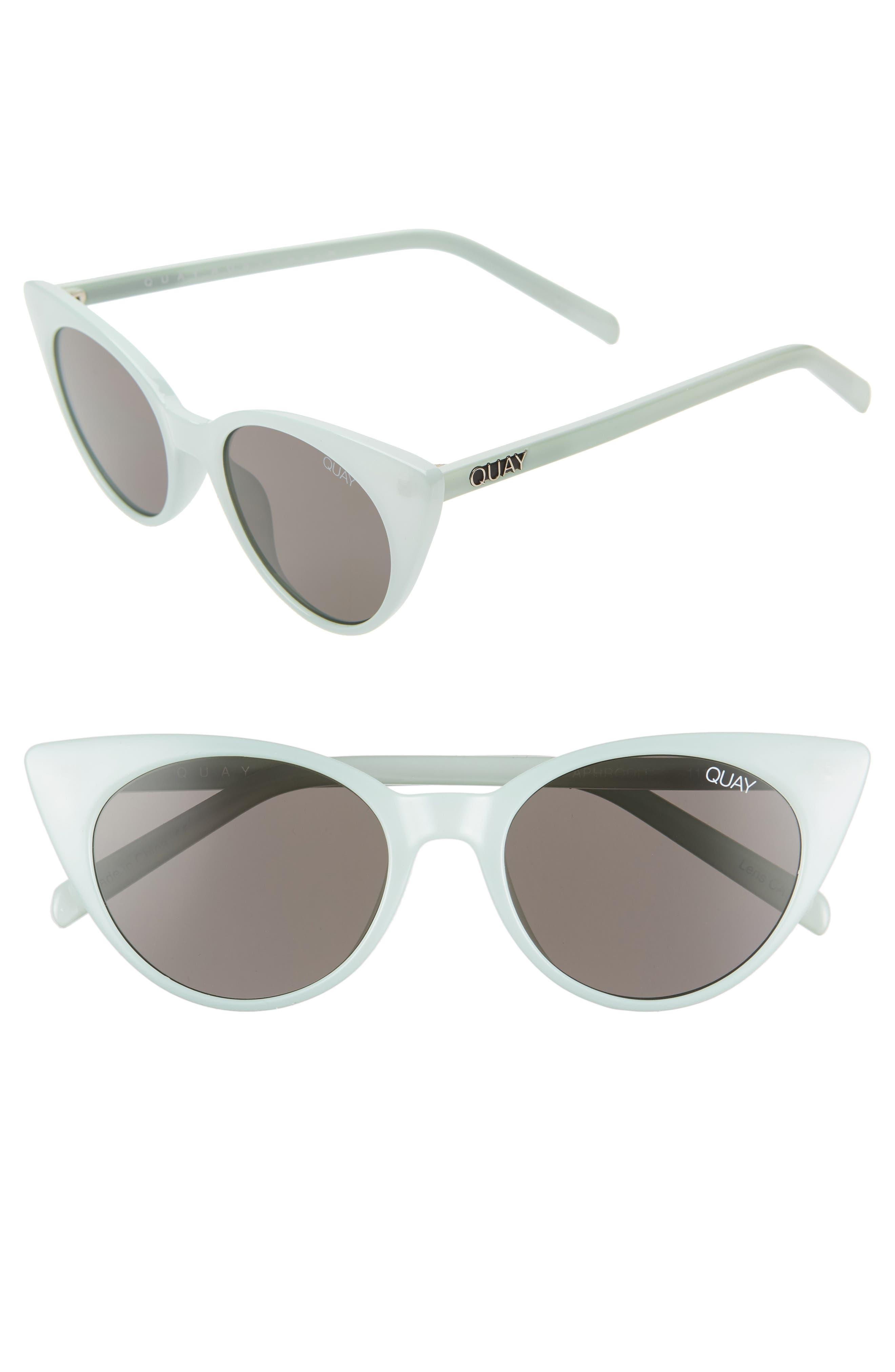 Quay Australia Aphrodite 5m Cat Eye Sunglasses - Mint/ Smoke