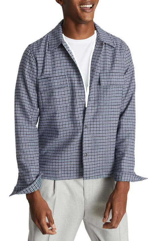 Reiss ASTRA SLIM FIT HOUNDSTOOTH SHIRT JACKET