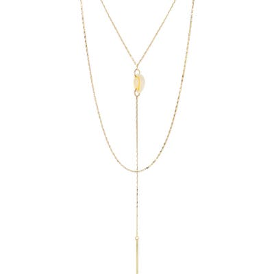 Panacea Layered Y-Necklace With Shell