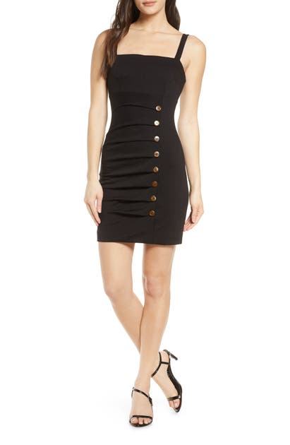 Finders Keepers EFFY BUTTON DETAIL MINIDRESS