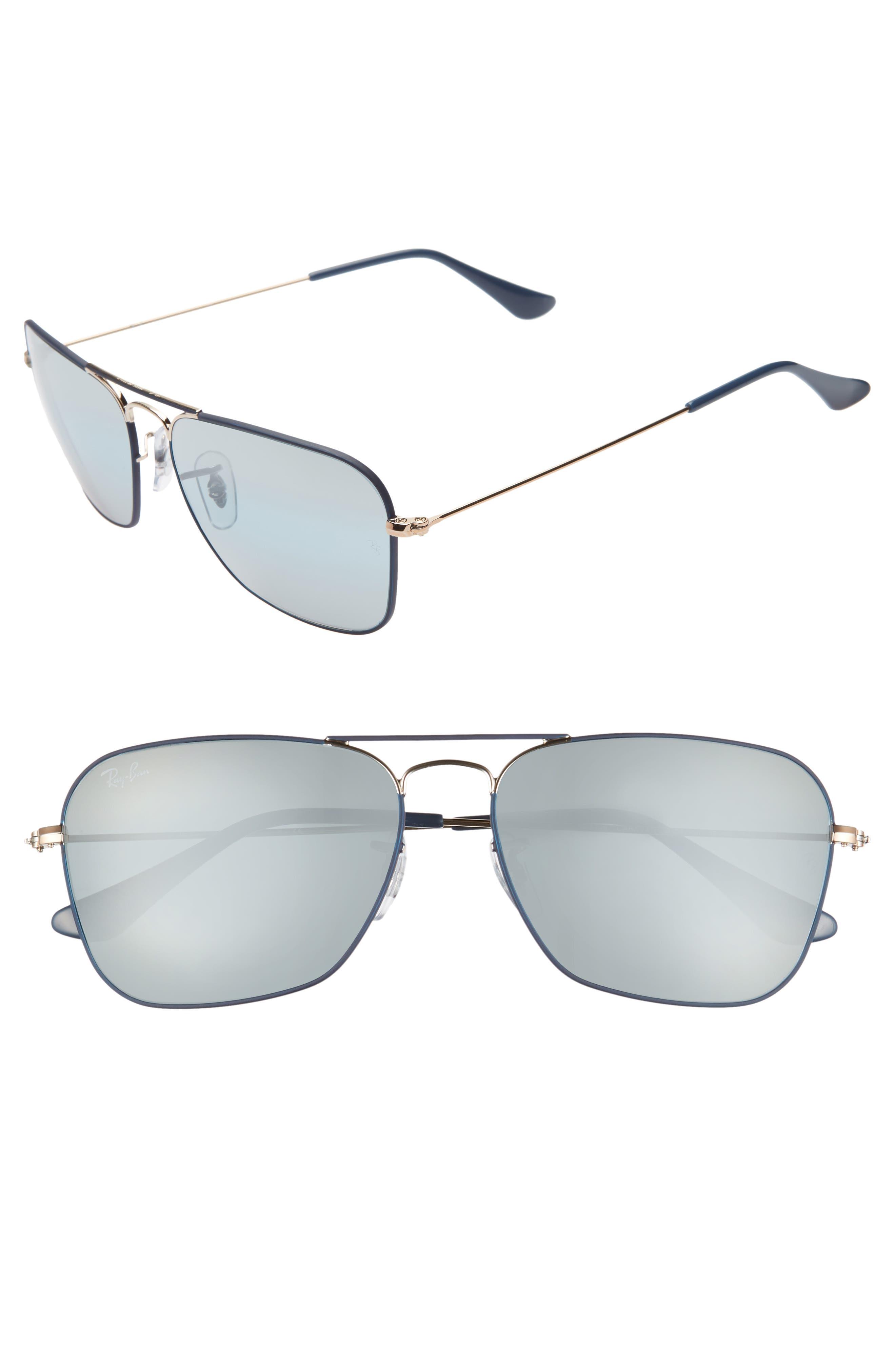 Ray-Ban 5m Aviator Sunglasses - Dark Blue/ Gold Mirror