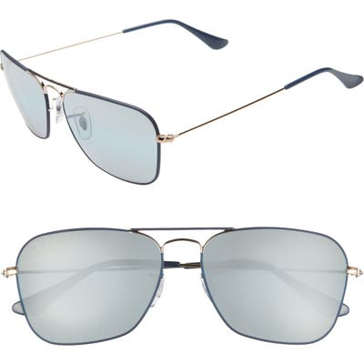 Ray-Ban 5m Aviator Sunglasses - Dark Blue/ Gold Mirror