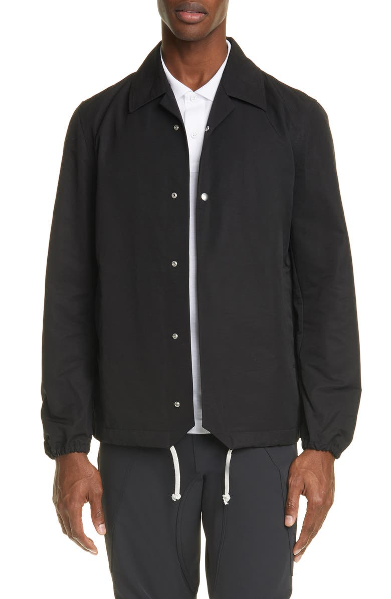 BOTTEGA VENETA Tech Faille Jacket, Main, color, BLACK
