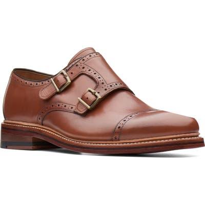Bostonian Somerville Mix Double Buckle Monk Shoe- Brown