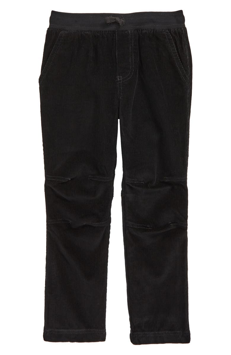TEA COLLECTION Corduroy Easy Pants, Main, color, JET BLACK