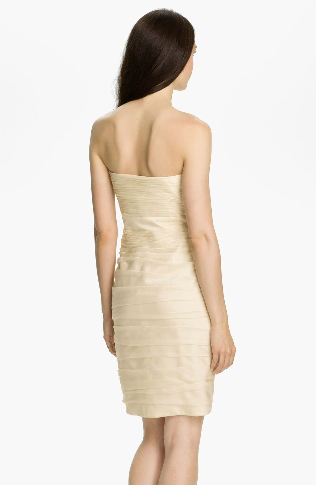 ,                             Ruched Strapless Cationic Chiffon Dress,                             Alternate thumbnail 86, color,                             900